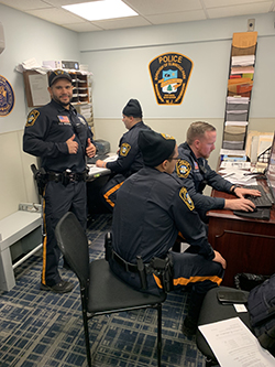 police officers in office